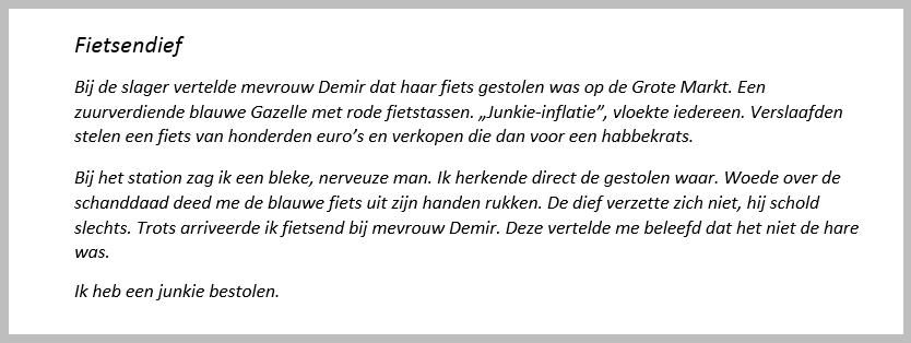 Ikje fietsendief schrijftips boek schrijven Singularity Miriam Wesselink