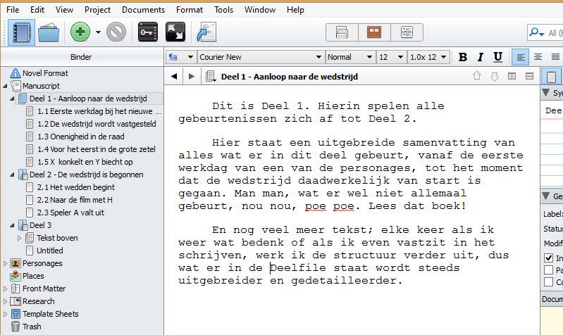 Scrivener 2 schrijftips boek schrijven singularity miriam wesselink10