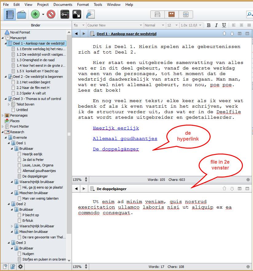 Scrivener 2 schrijftips boek schrijven singularity miriam wesselink36