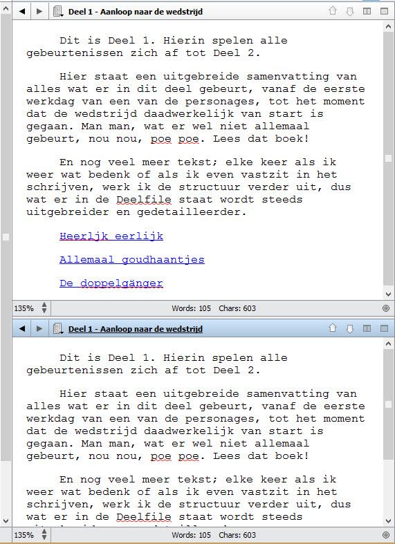 Scrivener 2 schrijftips boek schrijven singularity miriam wesselink39