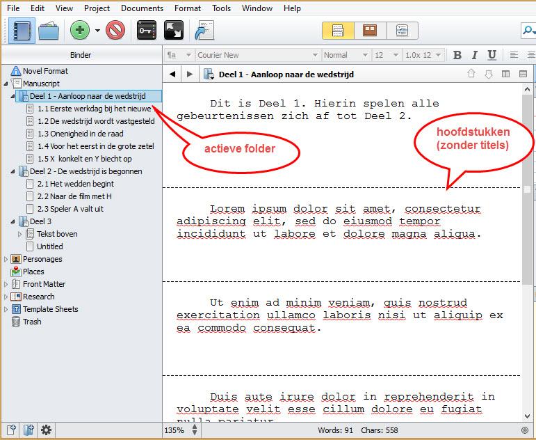 Scrivener 2 schrijftips boek schrijven singularity miriam wesselink5
