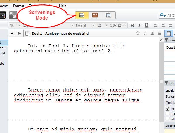 Scrivener 2 schrijftips boek schrijven singularity miriam wesselink9