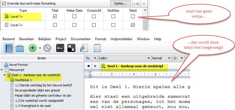 Scrivener boek schrijven schrijftips singularity miriam wesselink Tekst in Hoofdstuk
